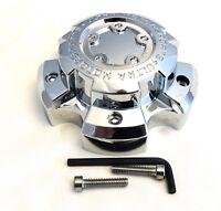 ULTRA 5 Lug Chrome Wheel Center Cap (QTY 1) p/n # 89-9855 WITH BOLTS