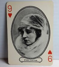 1916 ETHEL CLAYTON Moriarty Movie Star Playing/Trading Card-FREE S&H(F1042)