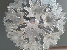 Mid Century Venini Muranoglas Blumen Sputnik (50cm) Deckenlampe/Kronleuchter