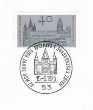 BRD 1975: Mainzer Dom Nr. 845 mit sauberem Bonner Ersttags-Sonderstempel 1A! 153