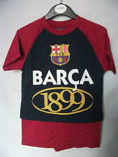 FC Barcelona Team Sports Football Shirt & Short PJ Pyjamas Barca 1899 1-2yrs NWT