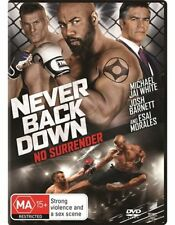 NEVER BACK DOWN DVD, NEW & SEALED, REGION 4, FREE POST