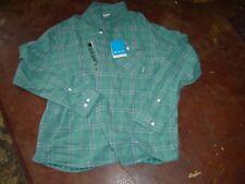 NWT Columbia Sportswear Green Plaid Men's Shirt Higginson Hill 2XL Long Sleeve