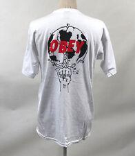 Obey Men's T-Shirt Smash it Up White Size L NWT Shepard Fairey Planet Earth Fist