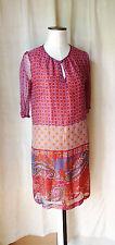 CHATTAWAK robe légère voile 100% soie imprimé indien T 38 BON  ETAT