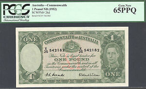Australia, 1 Pound, Pick 26d, Gem Unc, PCGS 65PPQ,Signs of H.C.Coombs & R.Wilson