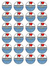 """x24 1.5"""" I Love Paramotoring And Paramotor Gear Cupcake Topper On Rice Paper"""