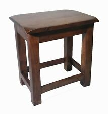 Rustic Farmhouse Handcrafted Wooden Low Height Stool Durable Furniture  Brown