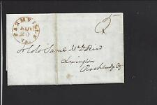 FARMVILLE, VIRGINIA STAMPLESS 1845 COVER, PRINCE EDWARD CO. 1800/OP.
