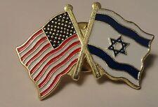 ISRAEL/AMERICAN FLAG LAPEL / HAT PIN ** USA/ISRAEL PIN **NEW**