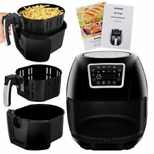 1700W Hot Air Fryer Family Size 5.8Qt 8-in-1 Recipe Book Touch Screen Control