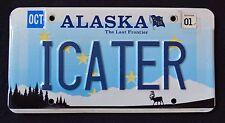 "ALASKA "" WILDLIFE CARIBOU "" LAST FRONTIER "" AK SPECIALTY License Plate"