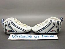 VTG OG Fila Stack II 2 White Navy Blue Red Jerry Stackhouse Infant 1996 sz 2