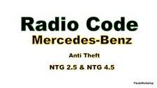 Mercedes Benz NTG 2.5  NTG 4.5 Anti Theft Entsperren Unlocking  Navigation