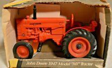 1/16 1947 John Deere Mi Orange Farm Tractor stock # 5628 Nib