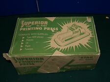 SUPERIOR STAR PRINTING PRESS 8303 VINTAGE 1950'S- EARLY 60'S