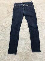 Fidelity Denim 28 Jeans Women's Scoop Low Waist Skinny Dark Wash