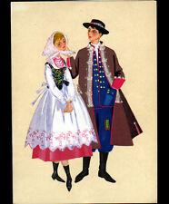 RZESZOW (POLOGNE) TYPE POLONAIS par IRENA CZARNECKA - COUPLE costumé en 1967