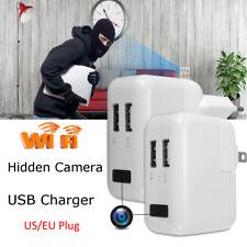1080P Mini HD WIFI USB Wall Charger Spy Hidden Camera DVR Recorder Power Adapter