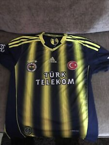 FENABACHE Football Shirt Size Small Mens Yellow And Navy Blue