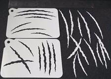 2 in 1 diversi stili di graffi Stencil per Aerografo Vernice viso corpo Halloween