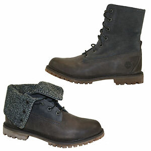 Timberland Authentics Fold Down Boots Ankle Boots Lace up Boots A117G