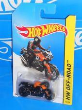 Hot Wheels New For 2014 HW Off-Road Moto #127 BMW K 1300 R Black & Orange