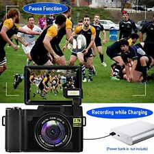 Digital Vlogging Camera 30MP Full HD 2.7K with Flip Screen and 32GB Memory Card