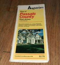 Vintage '87 Hagstrom Map Of Passaic County New Jersey RR Parks Golf NJTP Airport