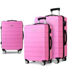 Wanderlite 3PC Luggage Suitcase Trolley Pink