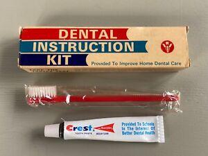 Vintage Dental Instruction Kit Toothbrush Toothpaste NOS Unused