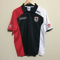St Kilda Saints ISC 2013 Official AFL Football Polo Shirt Black Mens Large