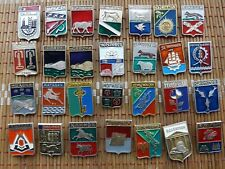 Collection Vintage Badge Pin Icon Emblem City of Russia 108 pieces,USSR