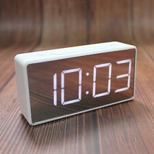 LED Digital Alarm Clock with Large Easy-Read Display for Bedroom Office White