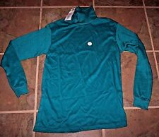 Boy's turtle neck knit top,sz Xlg(18/20) Made in USA,cotton blend,teal,winter