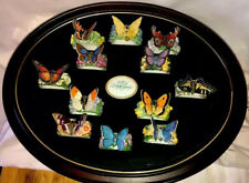 New listing Franklin Mint 12 Sculptured Porcelain Butterfly Napkin Rings !