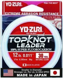 Yo-Zuri TKLD12LBNCL30YD Topkot Fluorocarbon Leader 12lb 30yd Clear Boxed