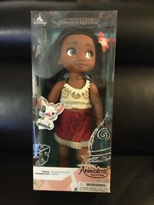 Disney Animators' Collection Moana Doll in Box Toddler with Pua Pig