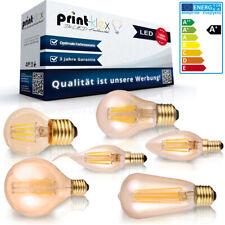 LED Filament Leuchtmittel Vintage E14 E27 Kerze Retro 2W 4W 6W Glühbirne Kolben
