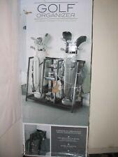 NEW 2 Bag Golf Organizer Metal Storage Rack Club Equipment Holder Accessories