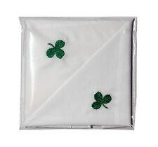 Nuevo Para Hombre 2 Pack Algodón Pañuelo con Trébol Irlandés Irlanda Regalo