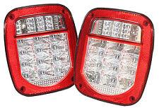 Red Truck Trailer Boat Jeep TJ CJ YJ JK Stop Turn Tail LED Lights Stud Mount