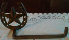 """Cast Iron Horse Shoe & Star Towel Holder"" Western Home Decor"