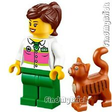 M683 Lego Supermarket Girl & Mrs.Scratchen-Post Detective's Office Lost Cat NEW