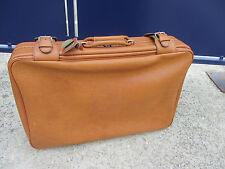 grande valise souple années 60/70 couleur marron 69 x 45 cm