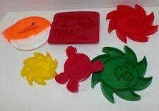 Lot of 6 Vintage Cookie Cutters Crafts clay presses M&M Sun Giant Raisins Toast