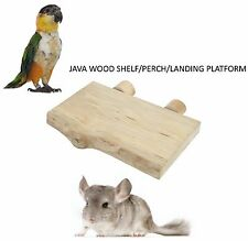 JAVA WOOD PARROT SMALL ANIMAL SHELF LANDING PLATFORM CAGE PERCH 250 X 150MM 4125