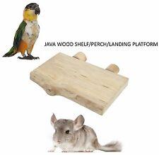 Pappagallo in legno Java piccola piattaforma di Atterraggio Scaffale ANIMALI GABBIA TRESPOLO 250 x 150MM 4125