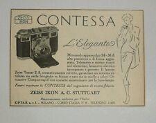 Pubblicità 1951 PHOTO FOTO ZEISS IKON CONTESSA old advertising werbung publicitè