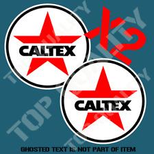 VINTAGE CALTEX BOWSER PETROL GASOLINE Decal Sticker X2 Americana Garage Stickers
